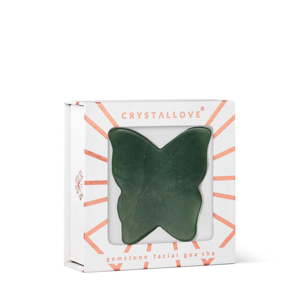 crystallove plytka motylek do masazu twarzy gua sha z awenturynu