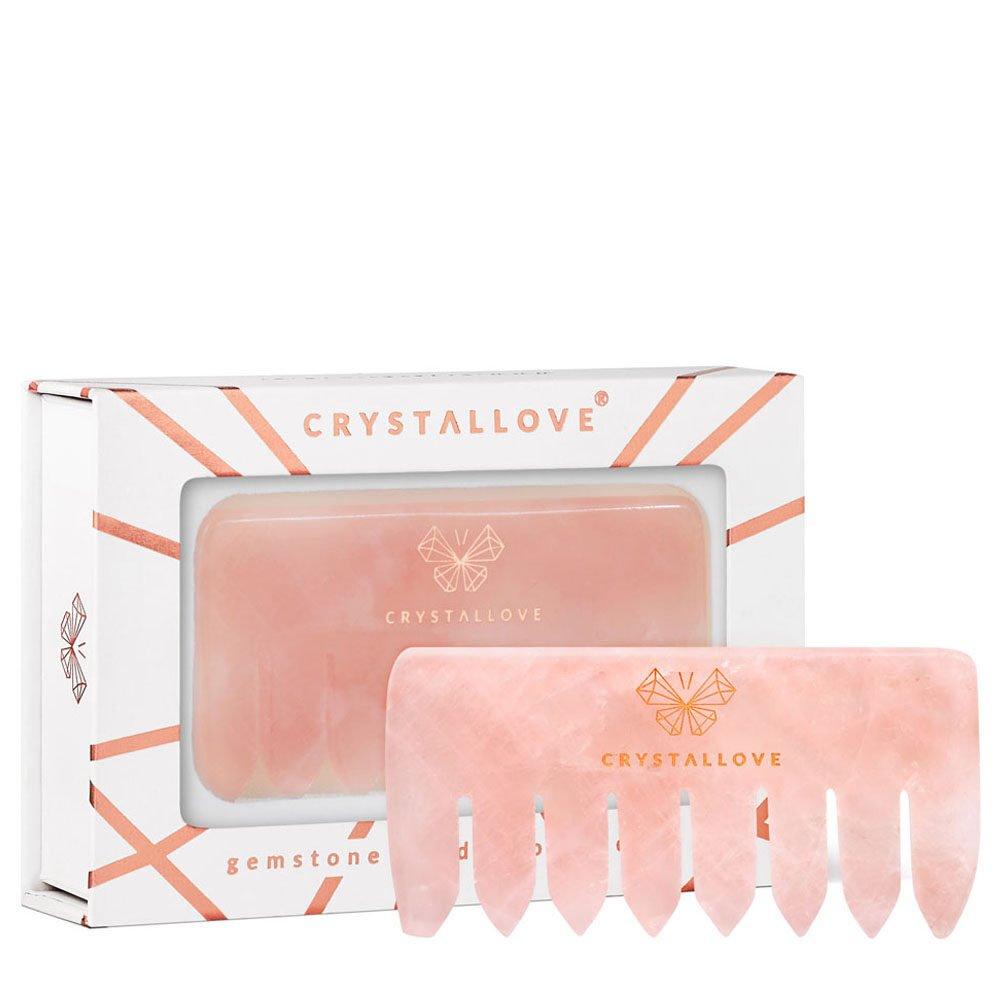 crystallove grzebien do masazu skory glowy z kwarcu rozowego