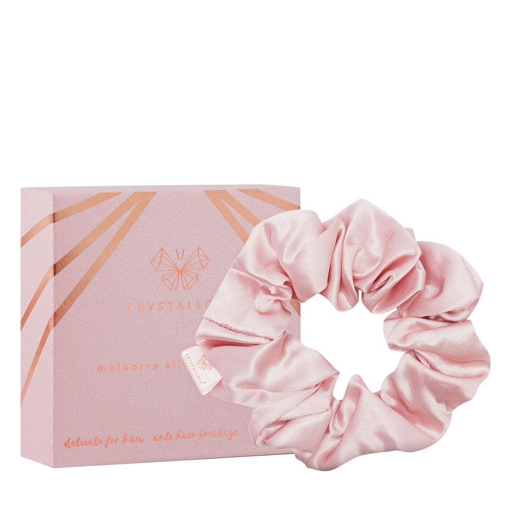 crystallove gumka do wlosow z jedwabiu rose - silk scrunchie