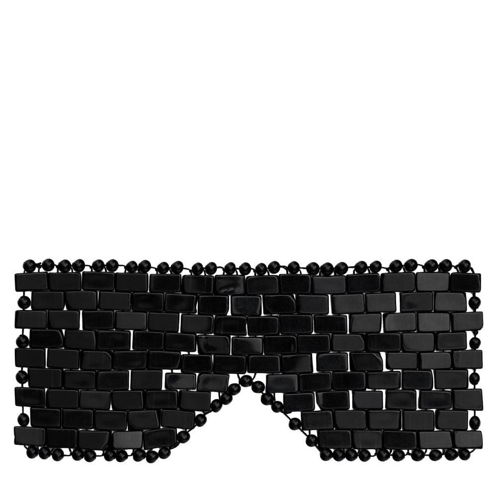 crystallove maska na twarz z czarnego obsydianu