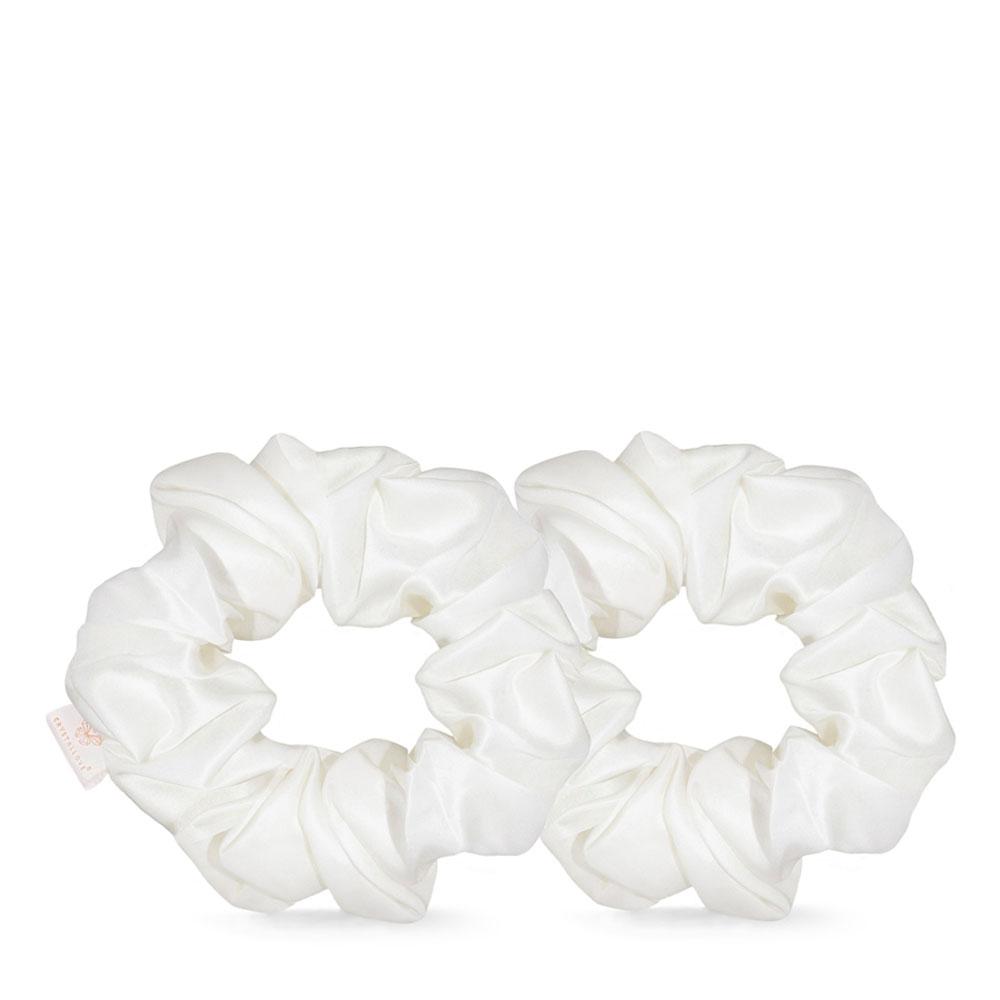 crystallove clear quartz home SPA set - gumka do włosów z jedwabiu - silk scrunchie