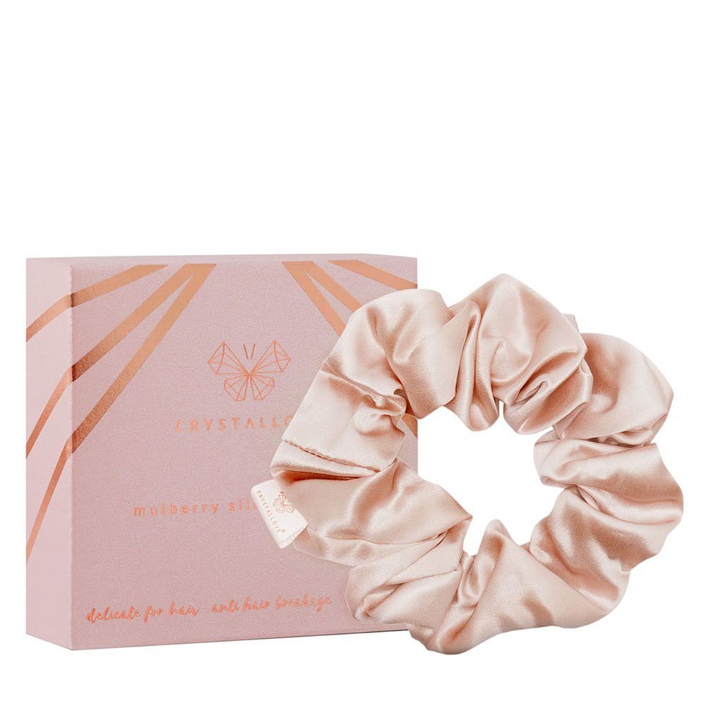 crystallove gumka do wlosow z jedwabiu gold - silk scrunchie