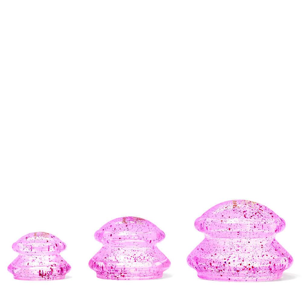 crystallove banki do masazu ciala antycellulitowe z brokatem