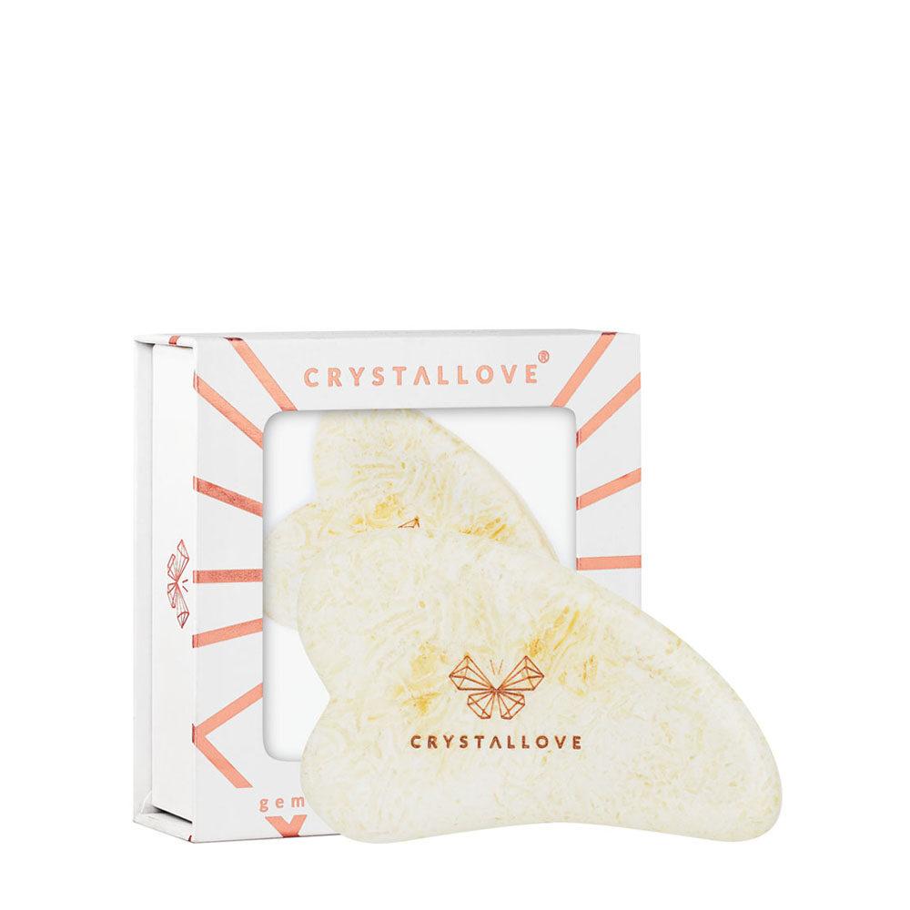 crystallove plytka do masazu twarzy gua sha z bursztynu mlecznego
