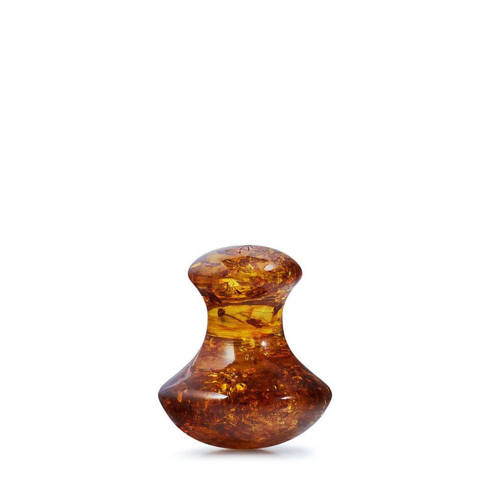 crystallove grzybek do masazu twarzy z bursztynu koniak